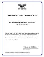 AMA Club Charter Certificate